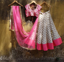 Load image into Gallery viewer, Privileged Candy Rose Pink Georgette Pearl & Kundan Embroidery Work With Magical Lehenga Choli