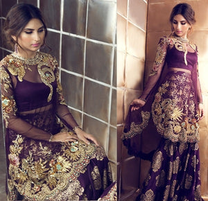 Ramadan Collection Georgette & Mono Net Hand Work With Eid Special Straight Pakistani Sharara Suit