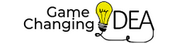 Game Changing Idea logo with yellow light bulb