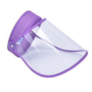 Game Changing Idea 32709 Purple Adjustable Full Face Shield