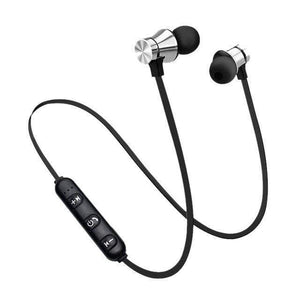 Game Changing Idea Silver Bluetooth Earphones (neckband)