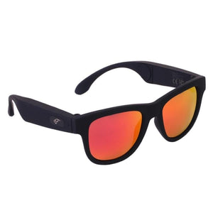Game Changing Idea 63705 Black frame red lens Bluetooth Sunglasses