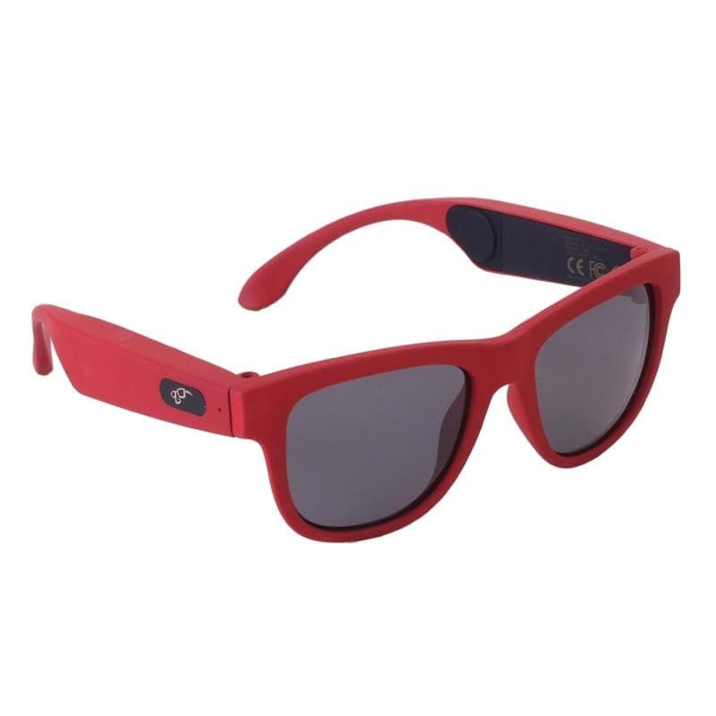 Game Changing Idea 63705 Red frame black lens Bluetooth Sunglasses