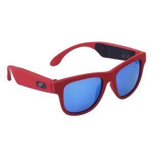 Game Changing Idea 63705 Red frame blue lens Bluetooth Sunglasses