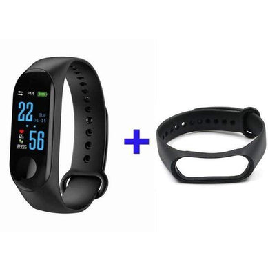 Game Changing Idea Black + Black Fitness Tracker Watch