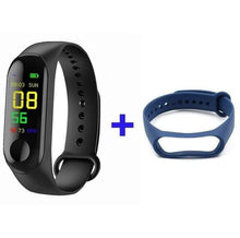 Load image into Gallery viewer, Game Changing Idea Black +Blue Fitness Tracker Watch