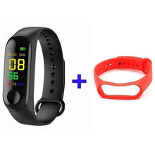 Load image into Gallery viewer, Game Changing Idea Black + Red Fitness Tracker Watch