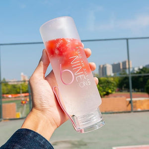 Game Changing Idea Frosted Glass Water Bottle