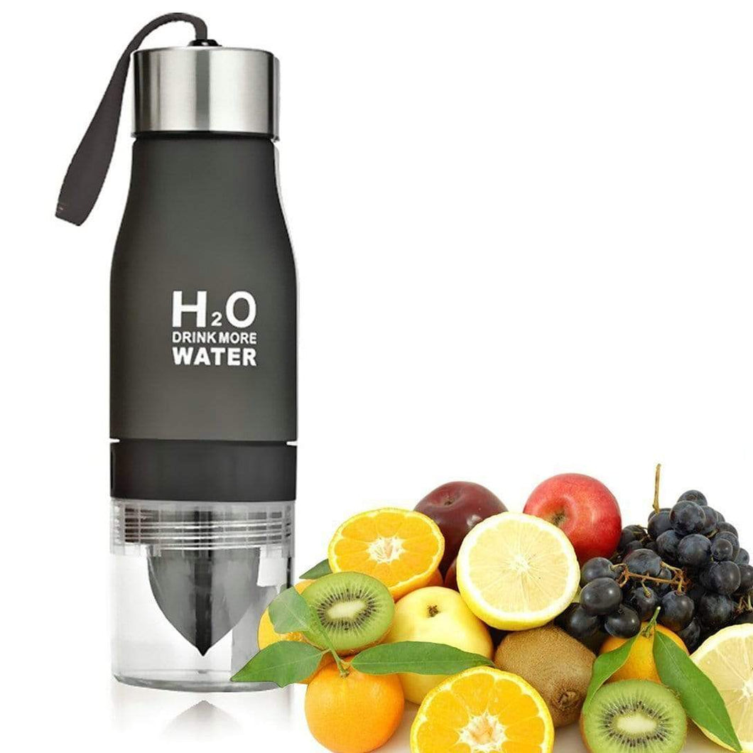 Game Changing Idea 650ml / Frosted Black Frosted Infuser Water Bottles