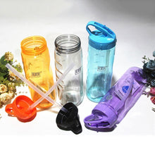 Load image into Gallery viewer, Game Changing Idea Frosted Sports Water Bottle with Time Markings & Flip Straw