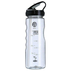 Game Changing Idea 700ml / Black Frosted Sports Water Bottle with Time Markings & Flip Straw