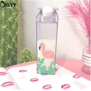 Game Changing Idea Flamingo Leaf Fun Print Water Bottles