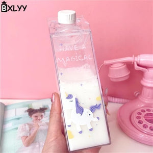 Game Changing Idea Have a Magical Day - Unicorn Fun Print Water Bottles