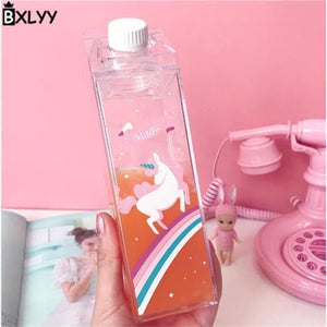 Game Changing Idea Magic - Rainbow and Unicorn Fun Print Water Bottles