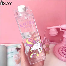 Load image into Gallery viewer, Game Changing Idea Unicorn - Enjoy Your Day Fun Print Water Bottles