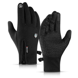 Game Changing Idea Black / L Gloves Running Touch Screen