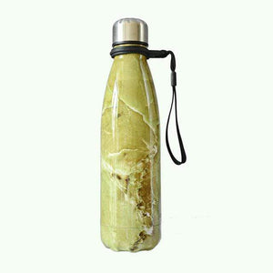 Game Changing Idea Worldwide / 401-500ml / Green Marble Marble Pattern Stainless Steel Water Bottle
