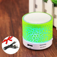 Load image into Gallery viewer, Game Changing Idea Worldwide / Green Mini Bluetooth LED Speaker