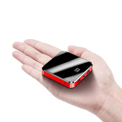 Game Changing Idea Mirror Red Mini Power Bank 10000mAh (Mirror Finish)