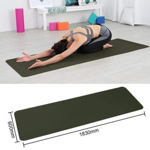 Game Changing Idea Green Black Non-slip Yoga Mats