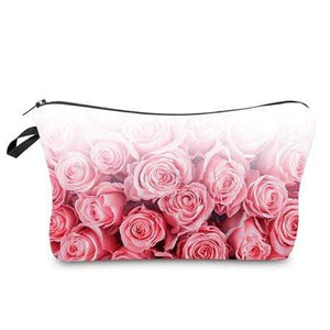 Game Changing Idea Pink Roses Pencil Cases & Makeup Bags