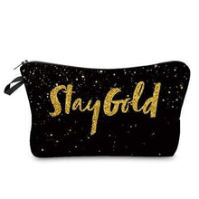 Load image into Gallery viewer, Game Changing Idea Stay Gold Pencil Cases & Makeup Bags