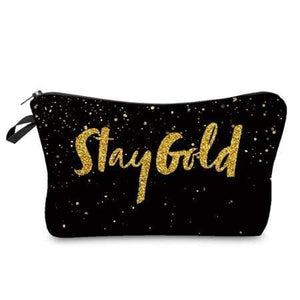 Game Changing Idea Stay Gold Pencil Cases & Makeup Bags