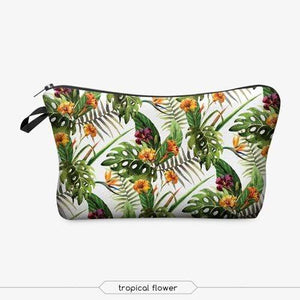 Game Changing Idea Tropical Flowers Pencil Cases & Makeup Bags