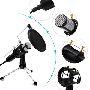 Game Changing Idea 63708 Worldwide / Silver Professional Microphone Condenser Podcasting Recording