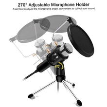 Load image into Gallery viewer, Game Changing Idea 63708 Worldwide / Silver Professional Microphone Condenser Podcasting Recording