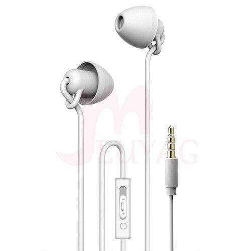 Game Changing Idea White (mic + volume control) Sleep Earphones