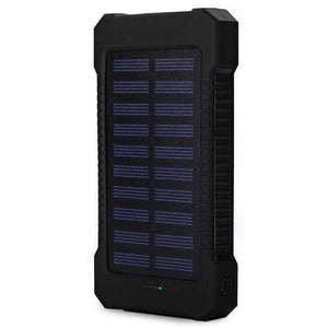 Game Changing Idea Black Solar Power Battery Pack 10000mAh