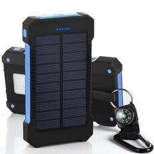 Load image into Gallery viewer, Game Changing Idea Blue Solar Power Battery Pack 10000mAh