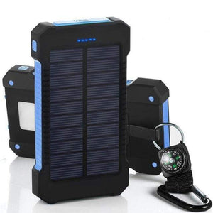 Game Changing Idea Blue Solar Power Battery Pack 10000mAh