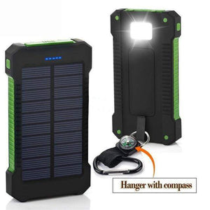 Game Changing Idea Green Solar Power Battery Pack 10000mAh