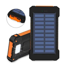 Load image into Gallery viewer, Game Changing Idea Orange Solar Power Battery Pack 10000mAh