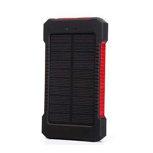 Game Changing Idea Red Solar Power Battery Pack 10000mAh