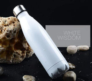 Game Changing Idea 350ml / White Stainless Steel Water Bottle