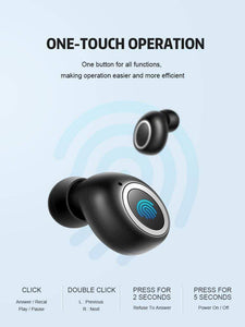 Game Changing Idea Touch Control Bluetooth Earphones