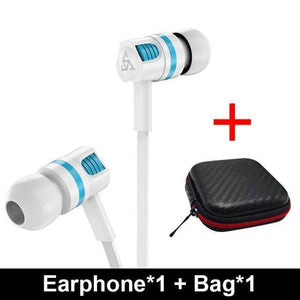 Game Changing Idea White with case Wired Earphones