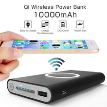 Load image into Gallery viewer, Game Changing Idea Black Wireless Battery Pack 10000mAh