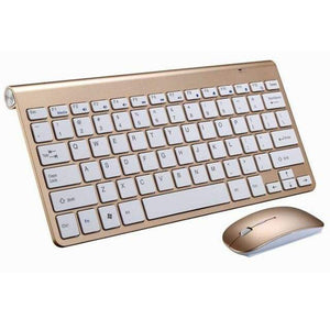 Game Changing Idea Gold Keyboard & Mouse Wireless Keyboard and Mouse