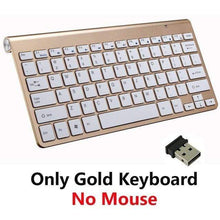 Load image into Gallery viewer, Game Changing Idea Gold Keyboard Only Wireless Keyboard and Mouse