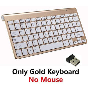 Game Changing Idea Gold Keyboard Only Wireless Keyboard and Mouse