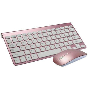 Game Changing Idea Pink Keyboard & Mouse Wireless Keyboard and Mouse