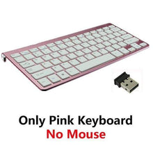 Load image into Gallery viewer, Game Changing Idea Pink Keyboard Only Wireless Keyboard and Mouse
