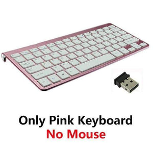 Game Changing Idea Pink Keyboard Only Wireless Keyboard and Mouse