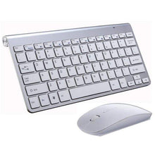 Load image into Gallery viewer, Game Changing Idea White Keyboard & Mouse Wireless Keyboard and Mouse
