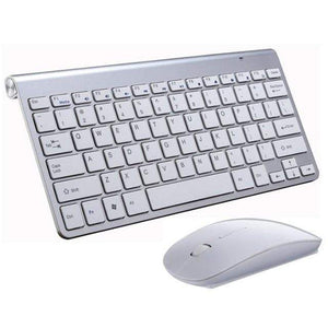 Game Changing Idea White Keyboard & Mouse Wireless Keyboard and Mouse