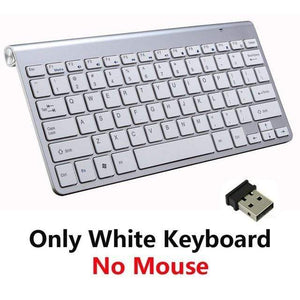 Game Changing Idea White Keyboard Only Wireless Keyboard and Mouse